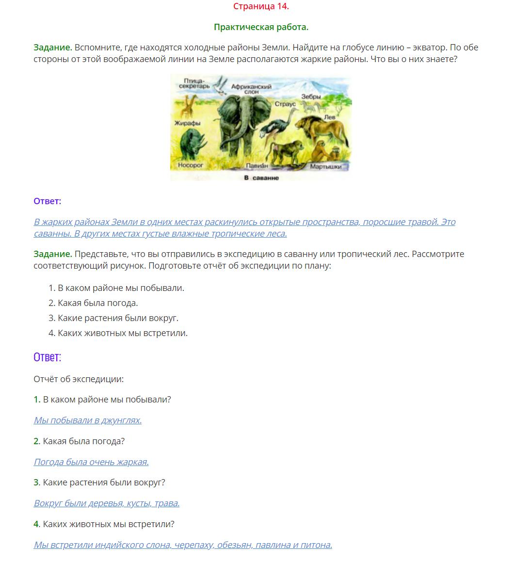 Окружающий мир 1 класс Плешаков 2 часть страница 14