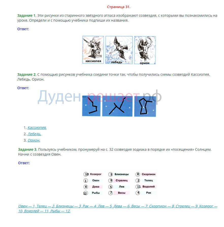 Окружающий мир 2 класс рабочая тетрадь Плешаков 1 часть страница 31