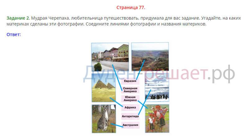 Окружающий мир 2 класс рабочая тетрадь Плешаков 2 часть страница 77