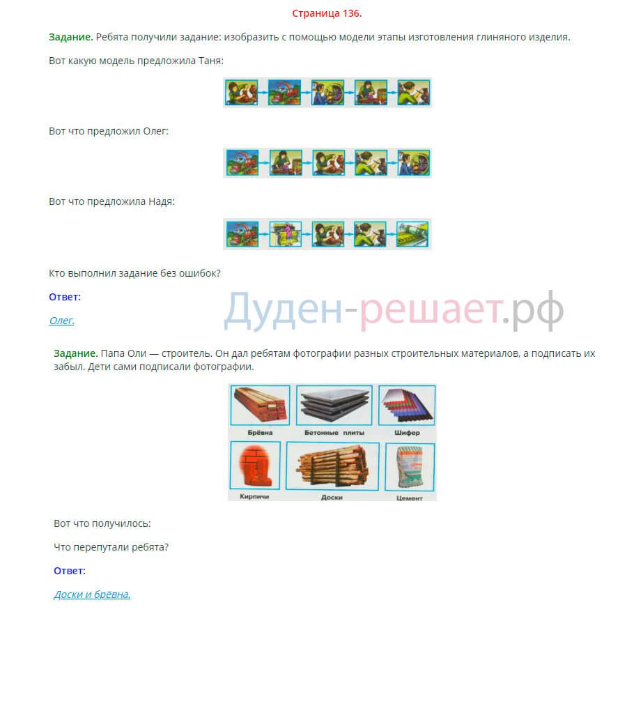 Окружающий мир 2 класс Плешаков 1 часть страница 136