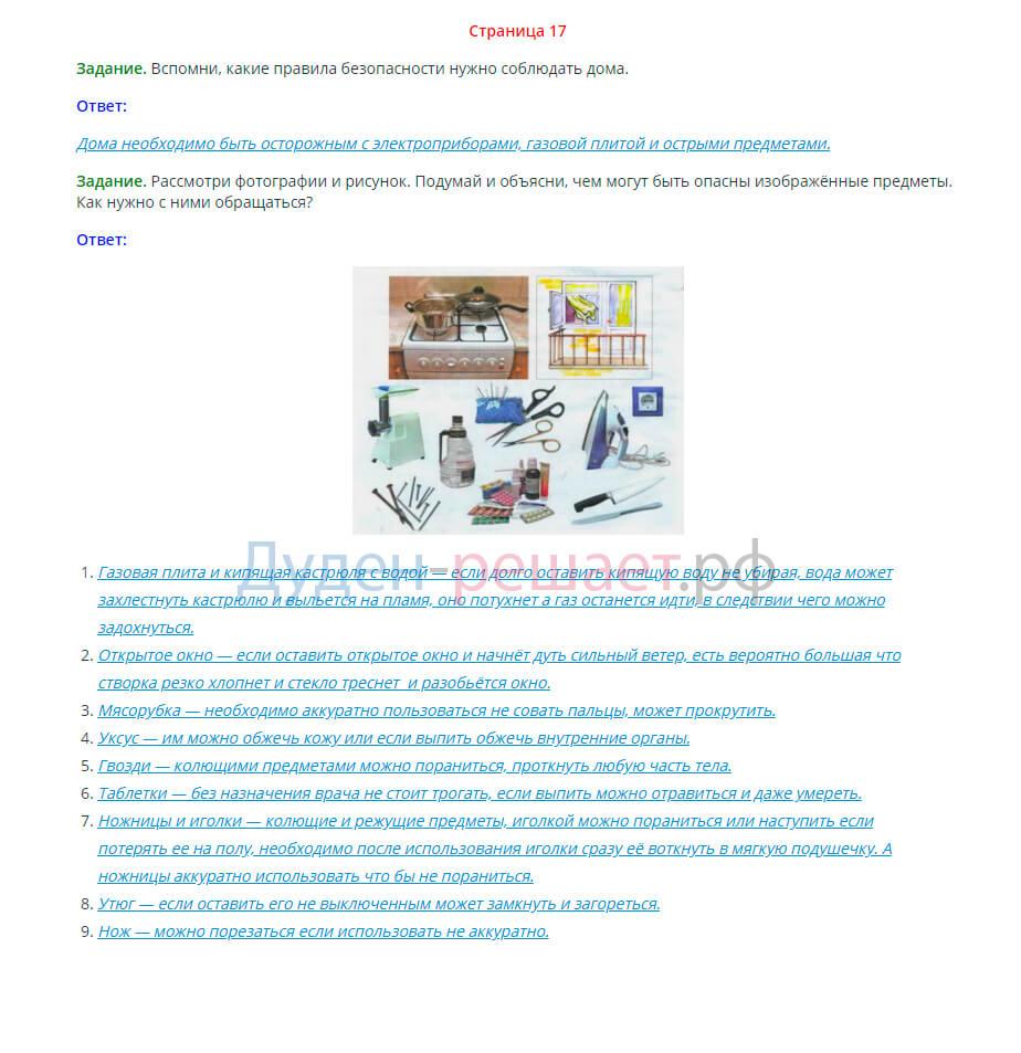 Окружающий мир 2 класс Плешаков 2 часть страница 17